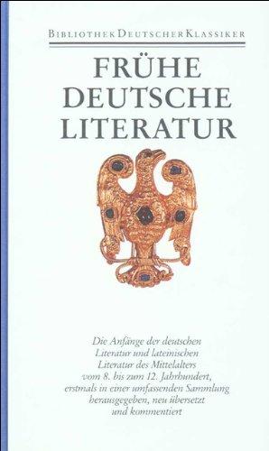 Bibliothek des Mittelalters.: Frühe deutsche Literatur und lateinische Literatur in Deutschland 800-1150