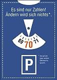 Glückwunschkarte zum 70. Geburtstag im Parkuhr Look: Es sind nur Zahlen! Ändern wird sich nichts*. *bis auf ein paar weitere Gebrauchsspuren. • auch zum direkt Versenden mit ihrem persönlichen Text als Einleger.