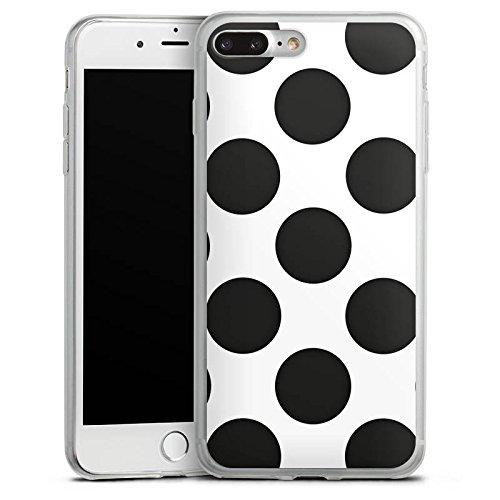 Apple iPhone 8 Plus Slim Case Silikon Hülle Schutzhülle Punkte Dots Rockabilly Silikon Slim Case transparent