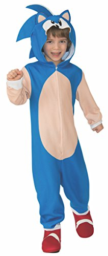 Sonic the Hedgehog Oversized Child Costume Jumpsuit - Large (Kostüm Hedgehog Sonic Fancy Dress The)