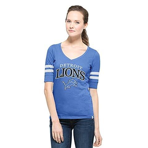 NFL Detroit Lions Women's '47 Flanker Stripe Tee, X-Large, Blue