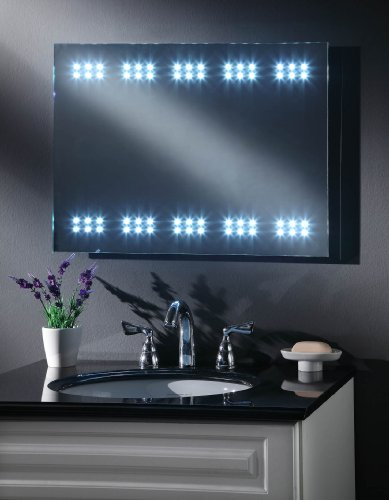 MY-Furniture BATTERY LED ILLUMINATED BATHROOM MIRROR / IP44 - SOVEREIGN