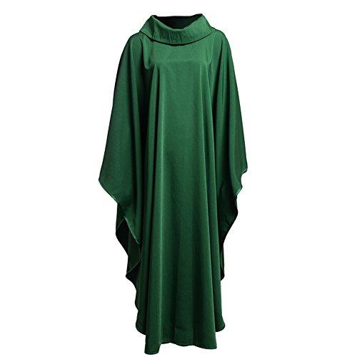 BLESSUME Kirche Priester festes Muster Kasel Vestments Grün