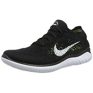 Nike Damen Free RN Flyknit 2018 Sneakers, Schwarz (Black/White 001), 39 EU