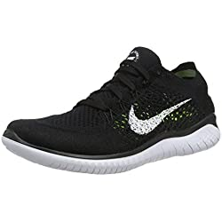 Nike Free RN Flyknit 2018, Zapatillas de Running para Mujer, Negro, 38 EU