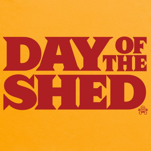 Day of the Shed T-Shirt, Damen Gelb