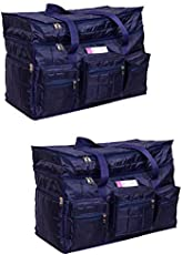Travel Air Bag Very Light Weight, Compact Packing Duffel Bag, Water Resistant, Easy Care Travelling & Storage Bag, Extra top Compartment, Multiple Pockets (Blue, Large)