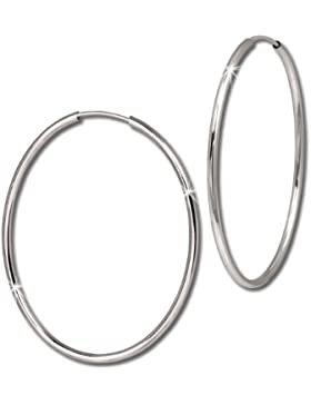 SilberDream Creole Oval 40mm Ohrring 925 Sterling Silber SDO092