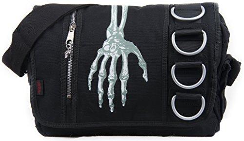 Skelett Hand Umhängetasche   Gothic Tasche   schwarz     Schultasche   Freizeittasche   gotisch  ...