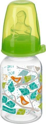 babylove Babyflasche mit anatomischen Trinksauger M, Größe 1, 0-6 Monate, 125ml, grün, 1 St