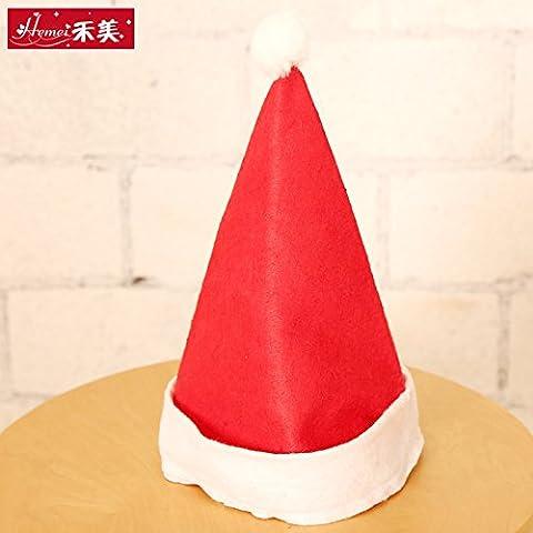 qwer Sombreros de Navidad para adultos y para niños regalo Navidad sombreros tela no tejida gorros de Santa Claus parte suministros, sombreros de Navidad adulto
