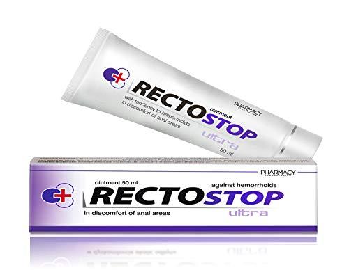 Pharmacy Laboratories Rectostop Ultra Hämorrhoiden Salbe | 50 ml | Hilft bei Analbeschwerden | Geeignet für Erwachsene | Dermatologisch getestet | Nur für äußere Anwendung