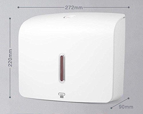 ZHANGY WC Papier Halter hängenden Hotel Handtuch Tissue Box - Freie Bohren Küche Toilette WC Papier Handtücher Pumpen Kartons (Farbe: weiß) (Papier-handtuch-halter Hängende)