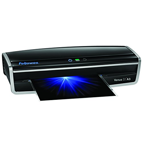 Cheapest Price for Fellowes Venus 2 A3 Large Office Laminator. 80-250 Micron. Rapid 30-60 second warm up time. Including 10 free pouches. on Amazon