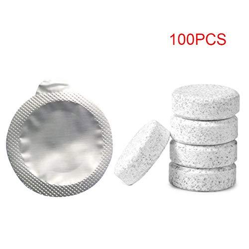 Guajave 10/20/50/100 Pz Effervescent Spray Detergente Lavavetri Auto Lavavetri Pulizia Pastiglie, 100 Pezz