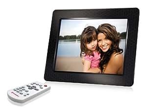 Transcend Digitaler Bilderrahmen (20,3 cm (8 Zoll) Display, 2GB interner Speicher, Videowiedergabe, integrierter MP3-Player, Kartenleser) schwarz