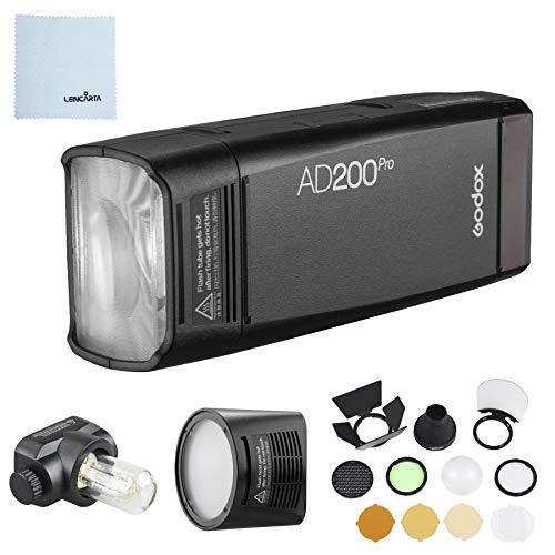 Preisvergleich Produktbild Godox AD200 Pro mit H200R Rundkopf Zubehör / AK-R1 Zubehörset