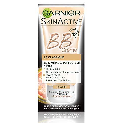 Garnier - SkinActive - BB Crème La Classique Claire - Soin Miracle perfecteur 5-en-1 - Lot de 3