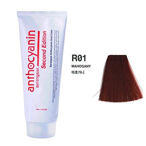 Mahagoni-mantel (Anthocyanin Haar Maniküre Farbe 230g (R01 Mahogany) Semi Permanent Haarfarbe Verlockende -UV Schutz Pflanzen Protein)