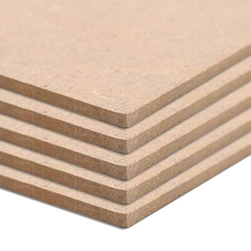 Tidyard MDF Platte Multiplexplatten 4 Stück MDF-Platten Holzplatten Quadratisch 60 x 60 cm Dicke von 12 mm