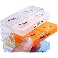 Fhouses Medizin 7Tage 4Dosen Tablet Kleine bis mittelgroße Pillendosen Storage Sortiermaschine Organizer preisvergleich bei billige-tabletten.eu