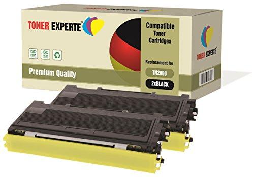 2er-Pack TONER EXPERTE® Premium Toner kompatibel zu TN2000 für Brother DCP-7010 DCP-7020 DCP-7025 HL-2030 HL-2032 HL-2040 HL-2050 HL-2070 HL-2070N MFC-7225N MFC-7420 MFC-7820 FAX-2820 FAX-2920