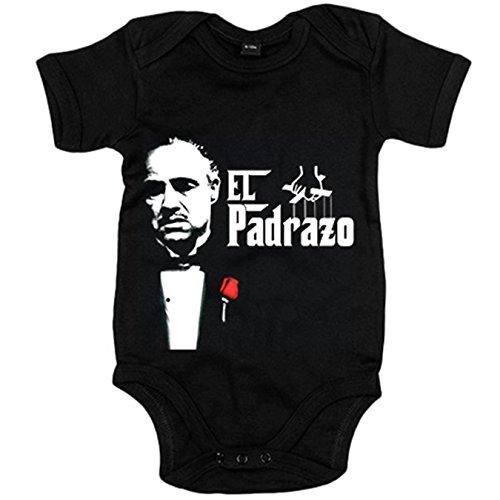 Body bebé El Padrazo - Negro, 6-12 meses