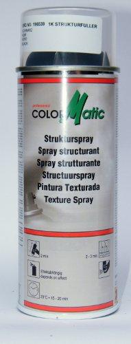 Preisvergleich Produktbild ( 2,99EUR/ 100ml)ColorMatic, Profi Strukturspray, schwarz-seidenmatt, überlackierbar, 400ml für Stoßstangen, Schweller, Armaturenbrett , ideal für Oldtimer-Restauration