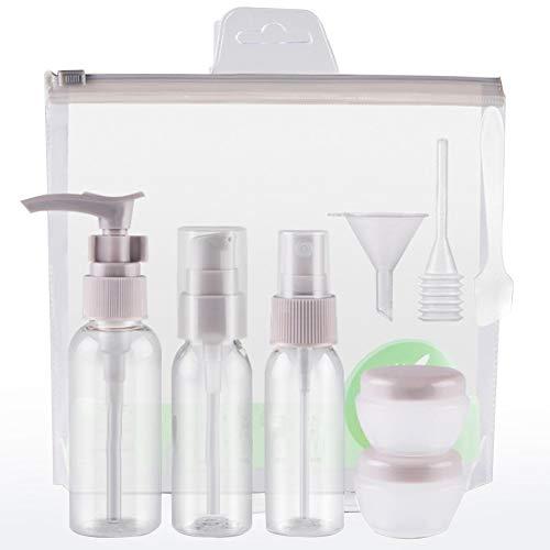 Haodou 4 stück/set Tragbare Mini Nachfüllbare Flasche Set Reise Kosmetik Spray Pumpe Lotion Presse Flasche mit Kunststoff Fall