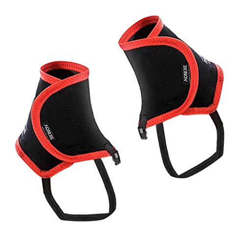 B Baosity Ghette Antistrappo/Caviglia Impermeabili Camminate Da Escursionismo Stivali Da Esterno Ghette Per Le Gambe - Rosso, 25X17cm