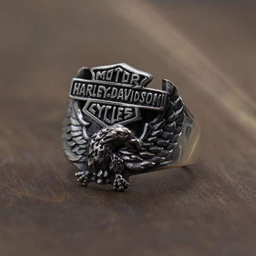 Sterling Silber Schmuck Harley Eagle Einstellbar Retro Classic Partei Frau Paar Zarte Fashion Einfachheit Geburtstag Gedenken Geschenk ()