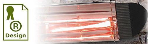Kit 2 Infrarot- Wärmelampen , geschütztes Design . Infrarotheizung 750 Watt-Birne GOLD hohe Strahlungseffizienzenthalten. Reflektor aus Aluminium mit lackierter Aluminiumlegierung . Halterung zur Verankerung an den Wänden und auf mobilen Trägern . - 3