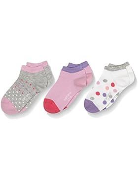 Camano Mädchen Füßlinge & Sneakersocken Junior Fashion Sneaker Dots 3p, 3er Pack