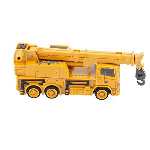 RC Auto kaufen Baufahrzeug Bild 3: Alomejor RC Bauwagen, Mini DIY Baufahrzeug RC Bagger Truck Bagger Kits Baustein Spielzeug(Kran)*