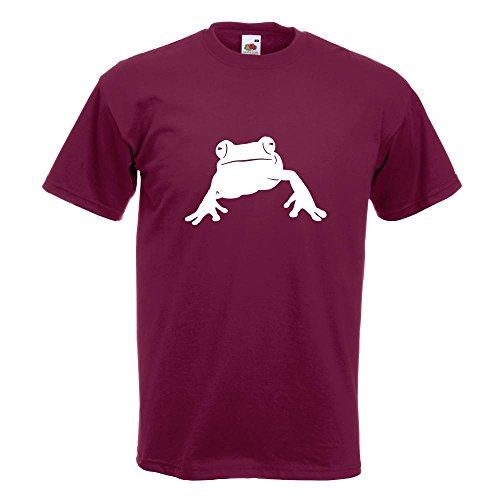 KIWISTAR - Frosch Frog Teich T-Shirt in 15 verschiedenen Farben - Herren Funshirt bedruckt Design Sprüche Spruch Motive Oberteil Baumwolle Print Größe S M L XL XXL Burgund