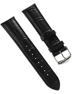 Lotus Uhrenarmband Elegant Armband-Material Leder schwarz für Lotus L18111, L18110 Uhren
