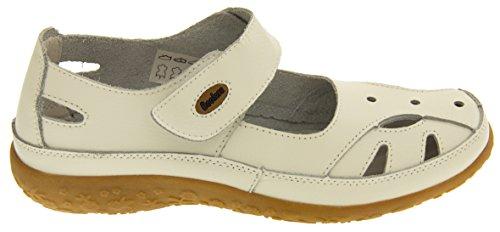 Coolers Cuir Mary Jane Ballerines Chaussures d'Eté Femmes Blanc