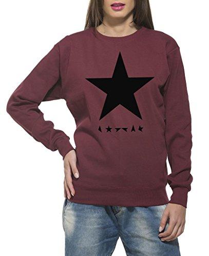 Clifton Women's Printed Sweat Shirt R-neck -Maroon -Black Star-M