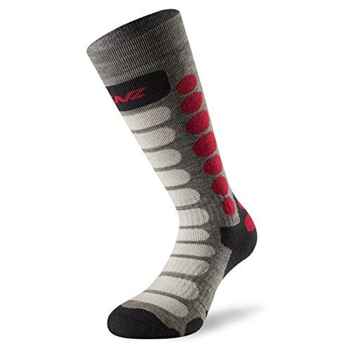 Sport-jugend-socke (Lenz Skiing Junior Jugend Socken Hellgrau/Dunkelgrau XL)