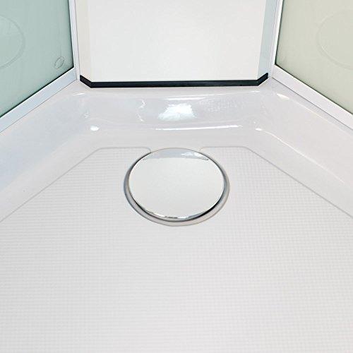 DUSAR Komplettdusche Fertigdusche Astoria 80 cm, 195 cm hoch Duschkabine Eckdusche Eckeinstieg mit vier Wänden rundum geschlossen komplett Dusche - 3