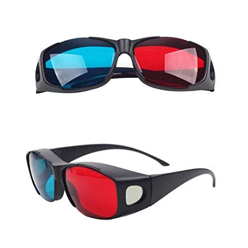 YaptheS Rot-Blau 3D-Brille Cyan Anaglyphen einfache Art-3D-Brille 3D-Movie Game-Extra Upgrade-Stil Schöner Schmuck (Die Spy Brille Kids)