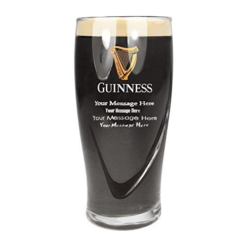 TUFF LUV Ursprüngliche Bierglas/Gläser / Barbedarf [50cl] Personalisiert Für - Guinness