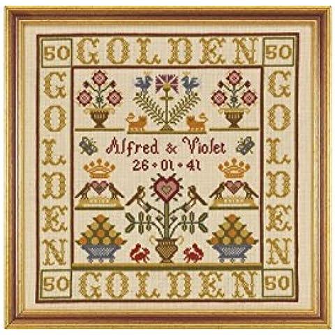 Historical Sampler Company Kit de punto de cruz, diseño bodas de oro