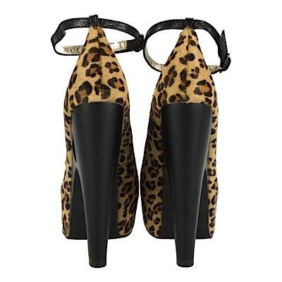T.u. k., escarpins bOW hEART motif léopard Marron - Leopard