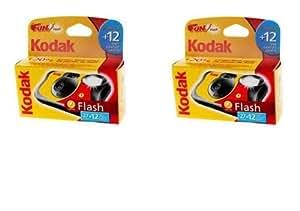 Kodak - Confezione da 2 fotocamere usa e getta Fun Flash, 39 scatti