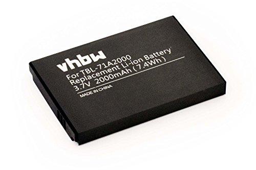 vhbw Batteria Ion 2000mAh (3.7V) per Router TP-Link M5350, TL-TR761, TL-TR861 sostituisce TBL-71A2000.