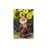 Lifetime Garden Resin Wobbling Riding Gnome Outdoor Ornament Toadstool Statue (Ladybird)