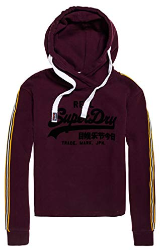 Superdry Vintage Logo League College Crew, Pull Femme, Violet (Fig Geq), Small (Taille Fabricant: 10)