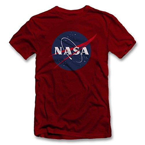 shirtground NASA 2 T-Shirt Bordeaux-Maroon 2XL
