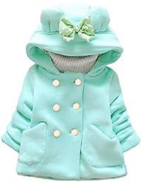 Originaltree Fashion - Chaqueta con Capucha para niños y niñas, cálida y de Manga Larga, para Invierno, Verde, 85